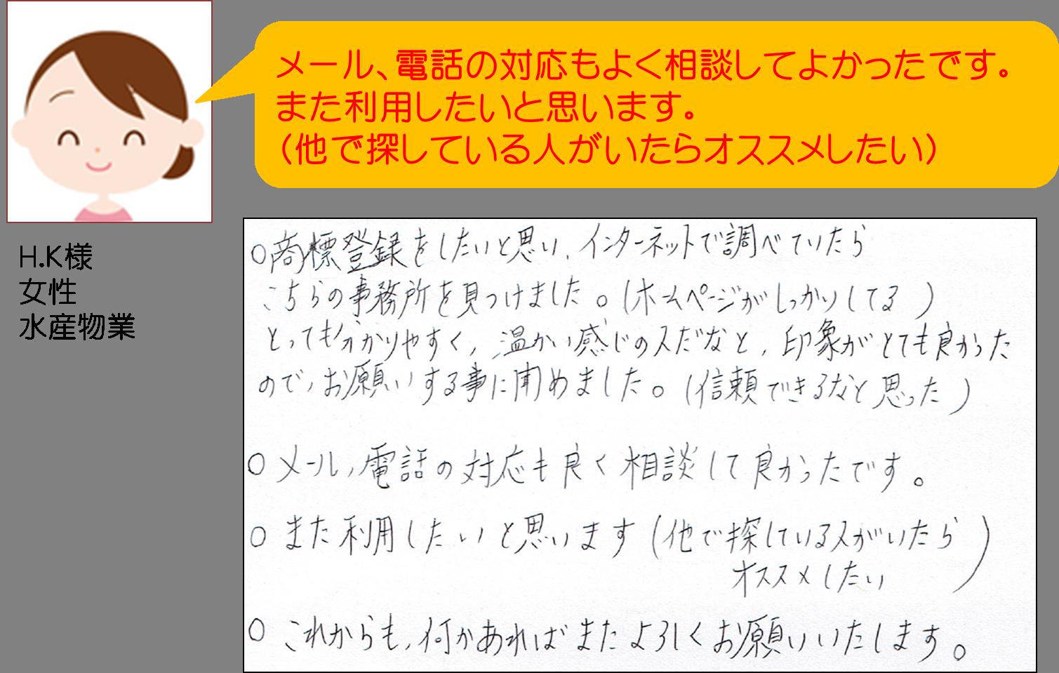 商標登録出願感想(水産物業)